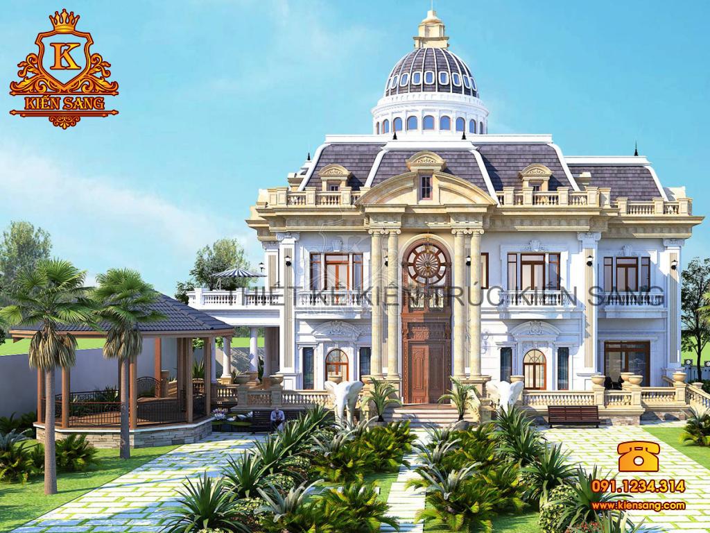Chốt phương án thiết kế biệt thự cổ điển tại Lập Thạch, Vĩnh Phúc