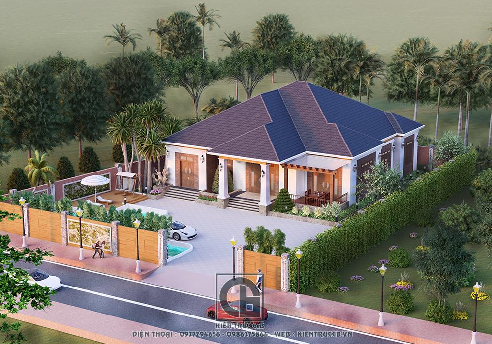 Vì sao mẫu thiết kế nhà vườn 1 tầng được nhiều người yêu thích